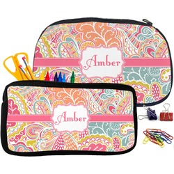 Abstract Foliage Pencil / School Supplies Bag (Personalized)