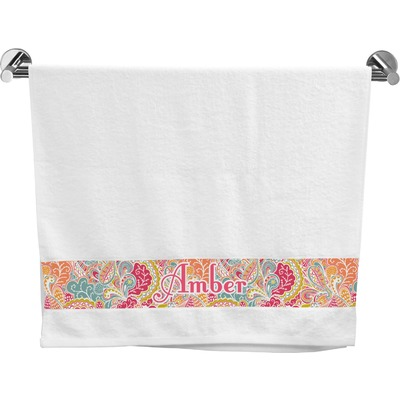 Abstract Foliage Bath Towel (Personalized)