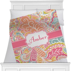 Abstract Foliage Minky Blanket (Personalized)