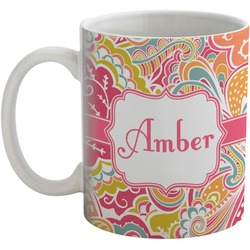 Abstract Foliage Coffee Mug (Personalized)