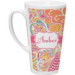 Abstract Foliage 16 Oz Latte Mug (Personalized)