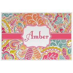 Abstract Foliage Laminated Placemat w/ Name or Text