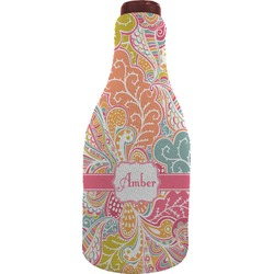 Abstract Foliage Wine Sleeve (Personalized)