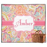 Abstract Foliage Outdoor Picnic Blanket (Personalized)