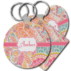 Abstract Foliage Plastic Keychains (Personalized)