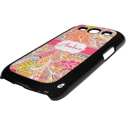 Abstract Foliage Plastic Samsung Galaxy 3 Phone Case (Personalized)