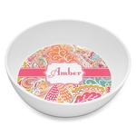 Abstract Foliage Melamine Bowl 8oz (Personalized)