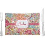 Abstract Foliage Rectangular Dinner Plate (Personalized)