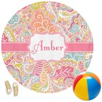 Abstract Foliage Round Beach Towel (Personalized)