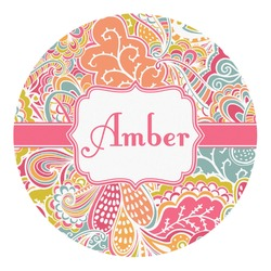 Abstract Foliage Round Decal (Personalized)