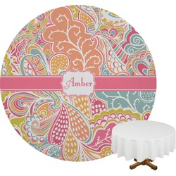 Abstract Foliage Round Tablecloth (Personalized)