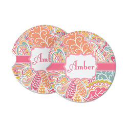Abstract Foliage Sandstone Car Coasters (Personalized)