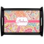 Abstract Foliage Wooden Trays (Personalized)
