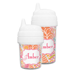 Abstract Foliage Sippy Cup (Personalized)