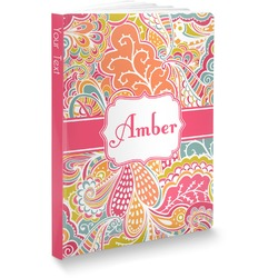 Abstract Foliage Softbound Notebook (Personalized)