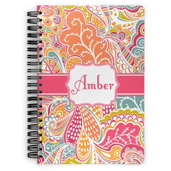Abstract Foliage Spiral Bound Notebook (Personalized)