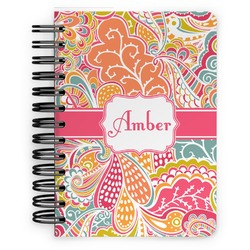 Abstract Foliage Spiral Bound Notebook - 5x7 (Personalized)
