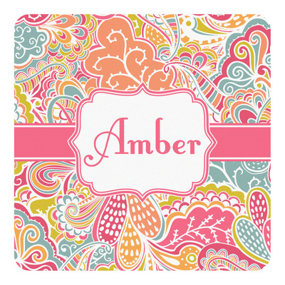 Abstract Foliage Square Decal (Personalized)