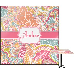 """Abstract Foliage Square Table Top - 24"""" (Personalized)"""