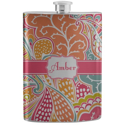 Abstract Foliage Stainless Steel Flask (Personalized)