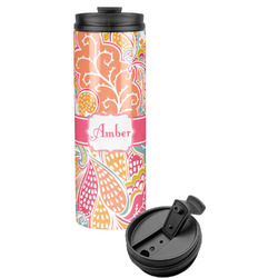 Abstract Foliage Stainless Steel Travel Tumbler (Personalized)