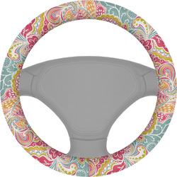 Abstract Foliage Steering Wheel Cover (Personalized)