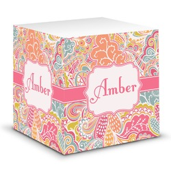 Abstract Foliage Sticky Note Cube (Personalized)