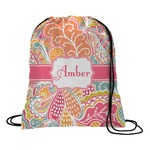 Abstract Foliage Drawstring Backpack (Personalized)