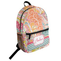 Abstract Foliage Student Backpack (Personalized)