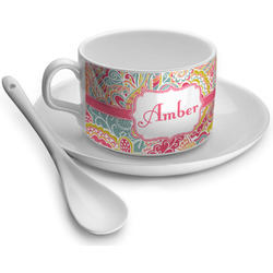 Abstract Foliage Tea Cup - Single (Personalized)