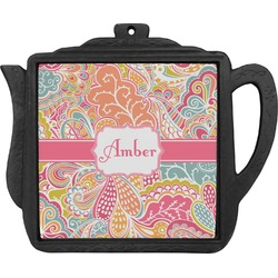 Abstract Foliage Teapot Trivet (Personalized)