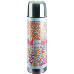 Abstract Foliage Stainless Steel Thermos (Personalized)
