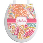 Abstract Foliage Toilet Seat Decal (Personalized)