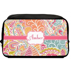 Abstract Foliage Toiletry Bag / Dopp Kit (Personalized)