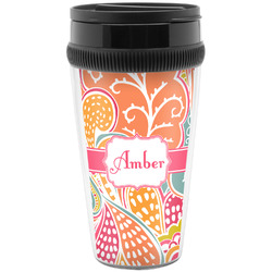 Abstract Foliage Travel Mugs (Personalized)