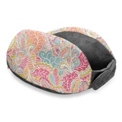 Abstract Foliage Travel Neck Pillow (Personalized)