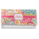 Abstract Foliage Vinyl Checkbook Cover (Personalized)