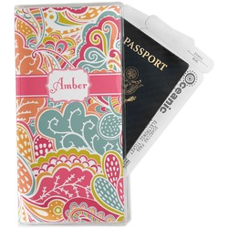 Abstract Foliage Travel Document Holder