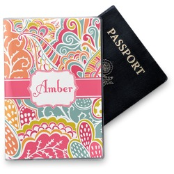 Abstract Foliage Vinyl Passport Holder (Personalized)