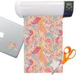 Abstract Foliage Sticker Vinyl Sheet (Permanent)
