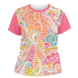 Abstract Foliage Women's Crew T-Shirt (Personalized)