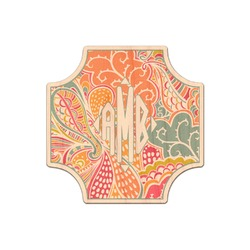 Abstract Foliage Genuine Wood Sticker (Personalized)