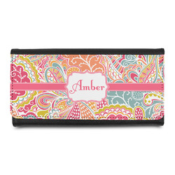 Abstract Foliage Leatherette Ladies Wallet (Personalized)