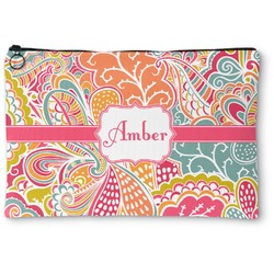 Abstract Foliage Zipper Pouch (Personalized)