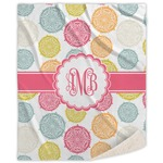 Doily Pattern Sherpa Throw Blanket (Personalized)
