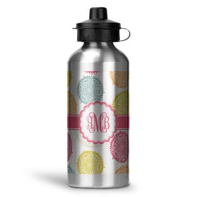 Doily Pattern Water Bottle - Aluminum - 20 oz (Personalized)