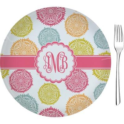 "Doily Pattern 8"" Glass Appetizer / Dessert Plates - Single or Set (Personalized)"