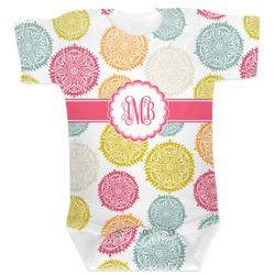 Doily Pattern Baby Bodysuit (Personalized)
