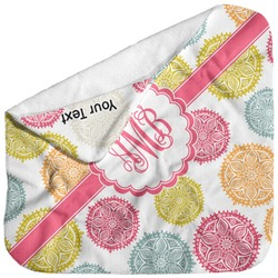 Doily Pattern Baby Hooded Towel (Personalized)