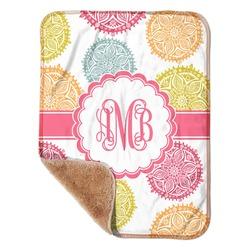 "Doily Pattern Sherpa Baby Blanket 30"" x 40"" (Personalized)"